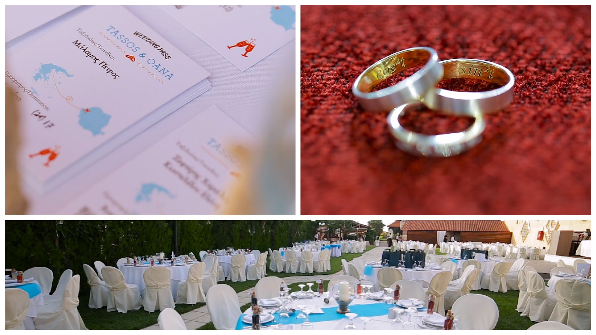 Details and outdoor venue at Greek wedding