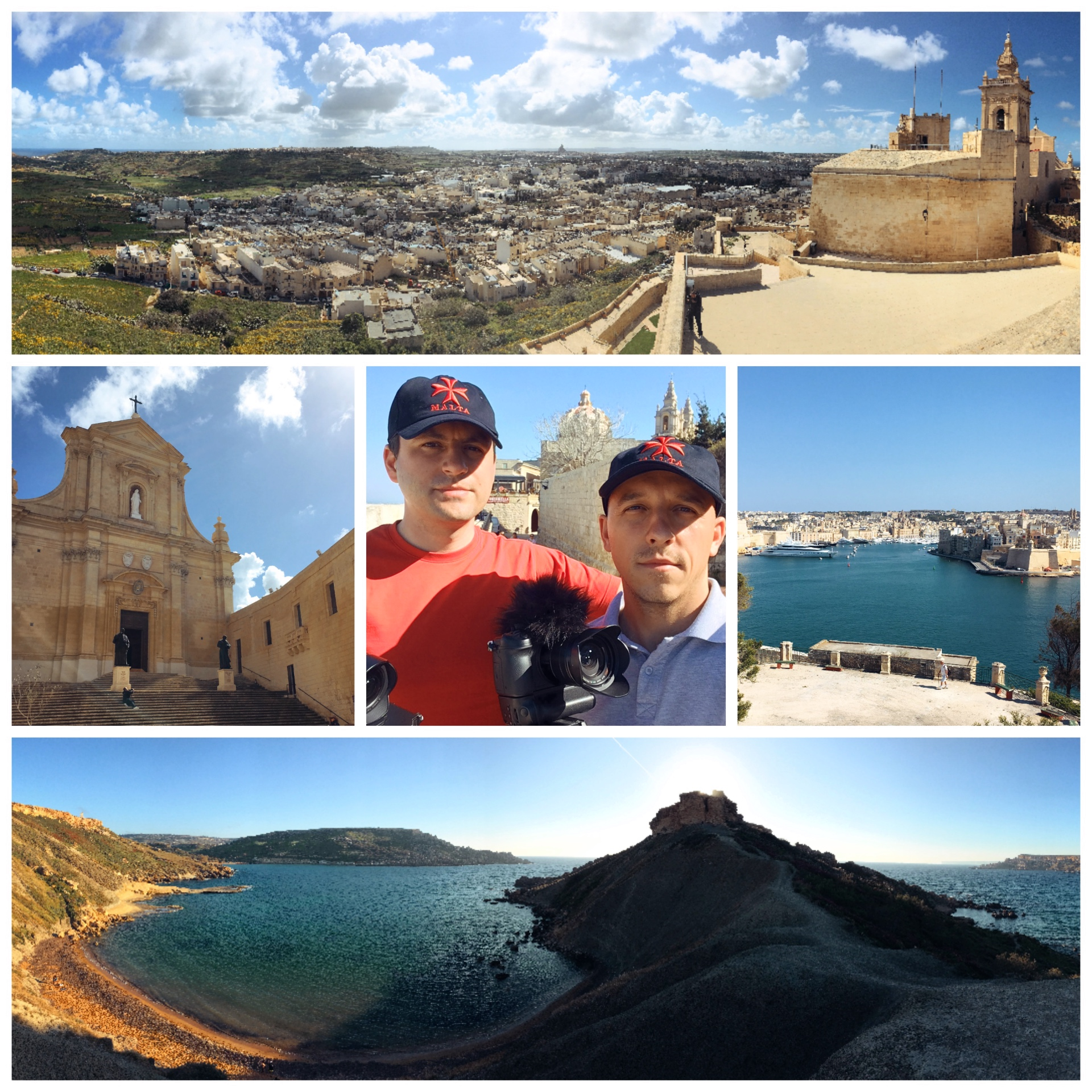Malta and Gozo, landscapes and panoramas